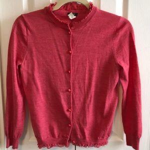 J. Crew tartine merino wool cardigan small sweater